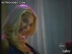 Asian Kelly Hu Dancing While Blonde Sara Erikson Shows Her Tits To a Guy