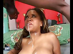 Big busty ebony slut humped