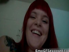 Big boobs red head pussy finger fucked