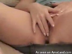 Sexy close up of hot ass fingering her pussy here