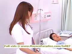 Akiho Yoshizawa innocent naughty Chinese nurse likes to do blowjob