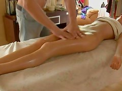 Katerina gets a massage treatment