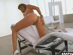 Big booty brunette loves feeling cock