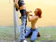 Back Alley Tugjob With a Horny Ginger