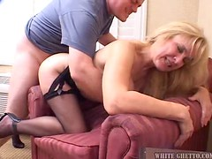 Naughty MILF Babe Takes a Creampie in a Rough Scene