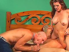 Big tits girl directs bisexual sex