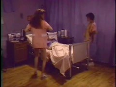 Luscious Babes Sucking and Riding in Retro Threesome