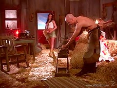 Beautiful Southern Brunette Vicky Powell Gets Fucked Hard In a Barn