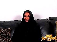 Busty Arab MILF Gets Fucked Doggy Style and Then Facialized Big Time