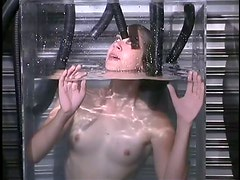 Poor Slave Almost Drowned In Glass Case