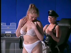 Mistress Teaches Busty Blonde A Lesson