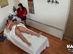 Busty Latina Babe Adrianna Luna Gives The Best Massages Ever