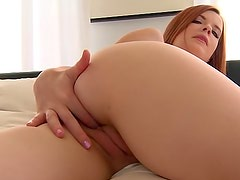 Sexy - Teen redhead with tight sexy gash
