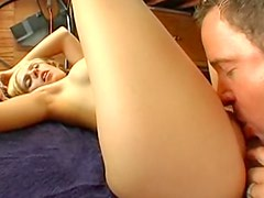 Hot ass and big tits on blonde girl