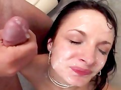 Alektra Blue gets her face drenched with hot cum