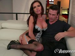 Veronica Loves To Spoil Her Man Manuel By Stripping, Sucking & Fucking