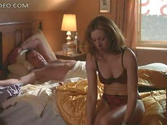 Sexy Alex Kingston Flashes Her Juicy Boobs In Really Hot Lingerie