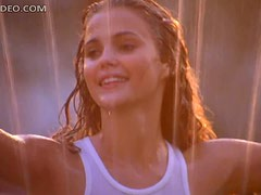 Hot Keri Russell with a White Wet Top
