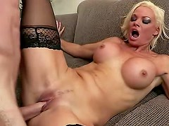 Bimbo Rhylee Richards fucked by big cock