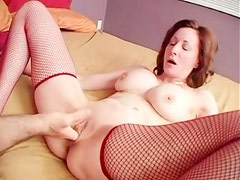 Big tits milf fucked in shaved box until he cums