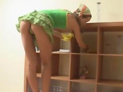 Petite room cleaner fucked hard