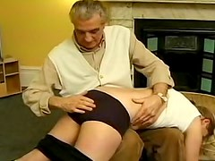 Young lady spanked and paddled hard