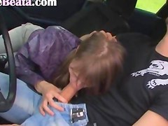 18yo russian girl copulated on the car