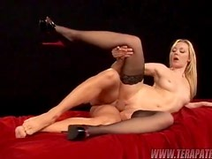 Glamcore At It's Best As A Blonde Takes A Lucky Dick