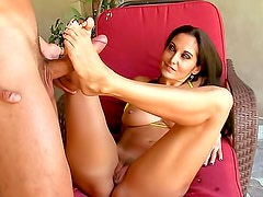 Ava Addams footjob and doggystyle fuck