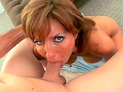 Deepthroat BJ with cum in mouth