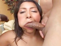 Raunchy Allie Ray gets her mouth crammed with hard cock