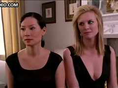 Bonnie Somerville & Three Hot Girls in Sexy Black Dresses