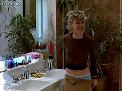British Blonde Babe Julie Christie Strips To Her Cute Panties