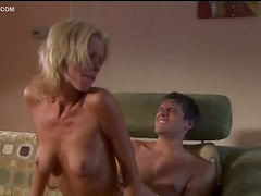 Unbelievably Hot Blonde Babe Tanya James Gets Fucked On a Couch