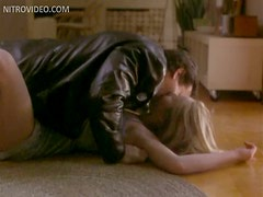 Sexy Blonde Andrea Roth Gets a Rough Fuck On The Carpet