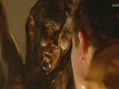 Gorgeous Barbara Merono Totally Naked and Covered In Mud