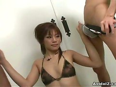 Nice Asian babe dual swallow