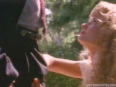 Retro video with curly blonde getting fucked rough