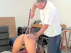 Cane strikes on the sexy asshole