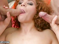 Fiery Vixen loves cocks