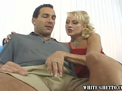 Busty blond milf Natasha likes when he cums in her pussy