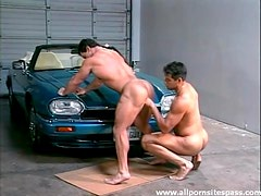 Bent over hood of the car fucked in the ass