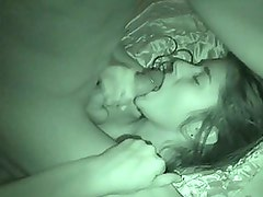 Hot Amateur Sucking Cock and Getting Her Pussy Fucked In The Dark