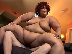 This nasty ebony fatty gets her fat ass on that hard cock