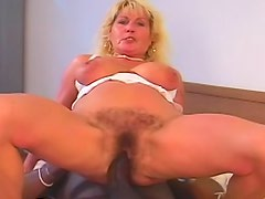 Hairy mature and black cock banging