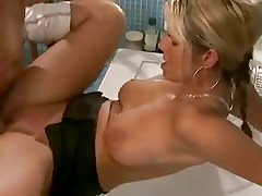 Busty German Blonde Fucked in Bathroom - bostero