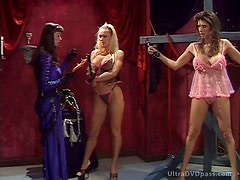 Incredibly Busty Lesbian Sex Slaves Get Tied Up and Disciplined