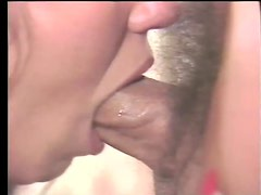 Sexy Brunette Babe With Big Tits Gets Fucked in a Hot Retro Threesome