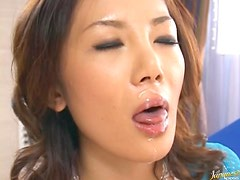 Lustful Rena Nagai Gets Her Pussy Fucked With Sex Toys and Then Sucks Cock