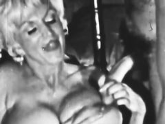 Busty Blonde MILF Sucks Cock and Gets Fucked in a Vintage Porn Vid